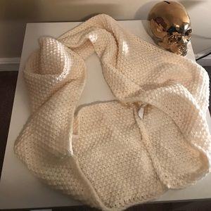 Cream white infinity scarf